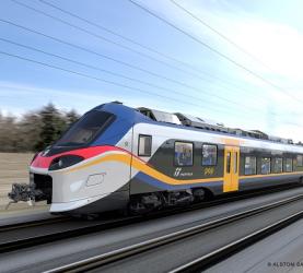 Présentation du premier train Coradia Stream d'Alstom